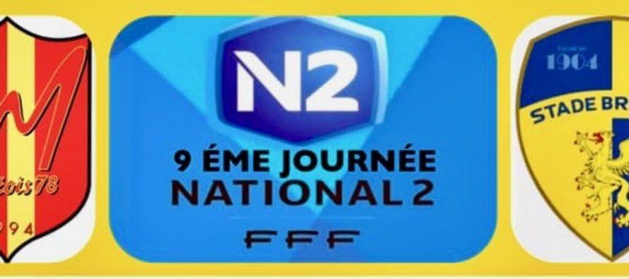 Foot – N2 – 9e J : Mantes reçoit Saint-Brieuc le 19 octobre à 15 HEURES