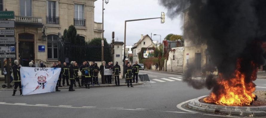 Mantes-la-Jolie : les sapeurs-pompiers sont en grève