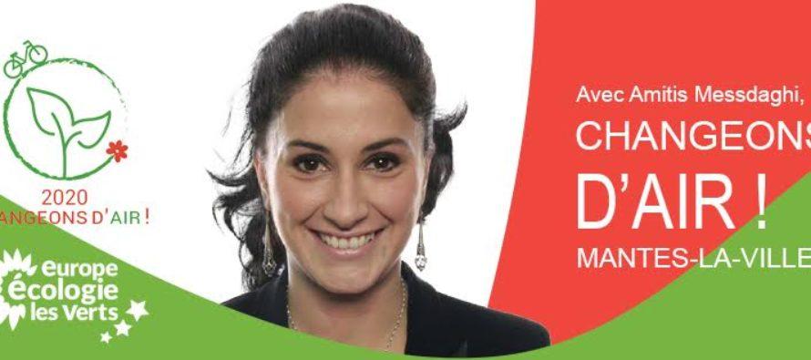 Municipales 2020 à Mantes-la-Ville : Amitis Messdaghi candidate soutenue par EELV