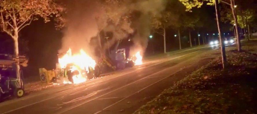 Mantes-la-Jolie : des engins de chantier incendiés au Val Fourré