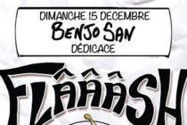 Idée cadeau : dédicace de « Flâââsh » de Benjo San à l'Illustrarium BD dimanche