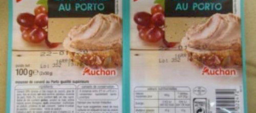 Auchan – Carrefour : présence de listeria dans la mousse de canard et feuilletés au foie gras