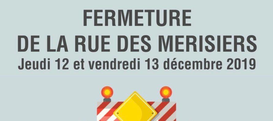 Mantes-la-Ville – Travaux: la rue des Merisiers fermée à la circulation les 12 et 13 décembre