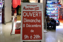 Décembre 2019 : Auchan Mantes ouvert tous les dimanches de 9h à 20h