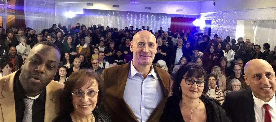 Municipales à Mantes-la-Ville : 300 personnes aux voeux de Sam Damergy