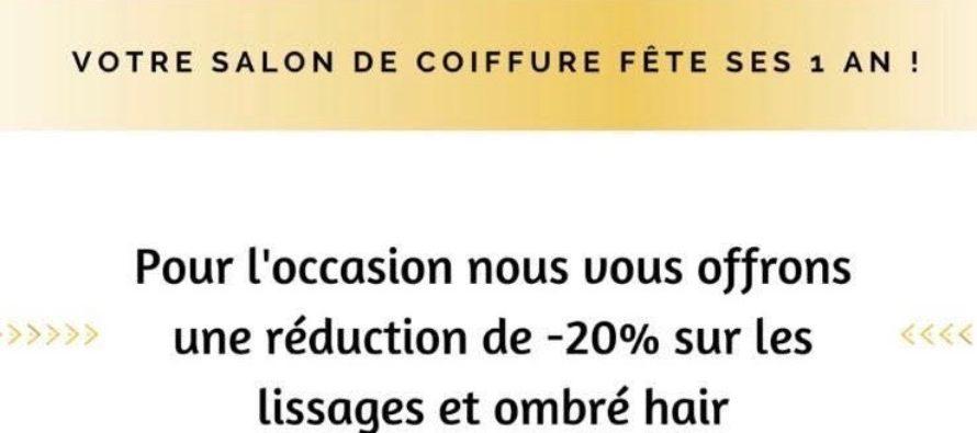 Anniversaire Salon l'Alcove : -20 % sur les lissages et ombré hair du 11 au 15 février