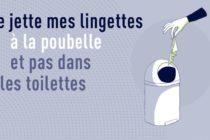 Coronavirus – Déchets : jetez vos lingettes à la poubelle et non dans les toilettes