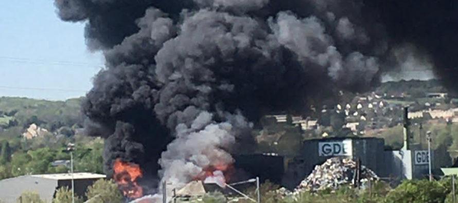 Limay : un incendie chez l'entreprise GDE provoque un nuage toxique