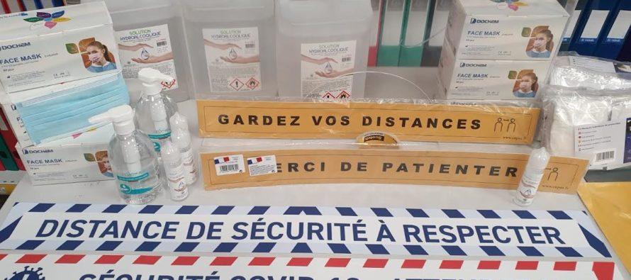 Bureau Vallée Mantes-Buchelay : masques, gels hydro, écran de protection, signalisation pour les entreprises