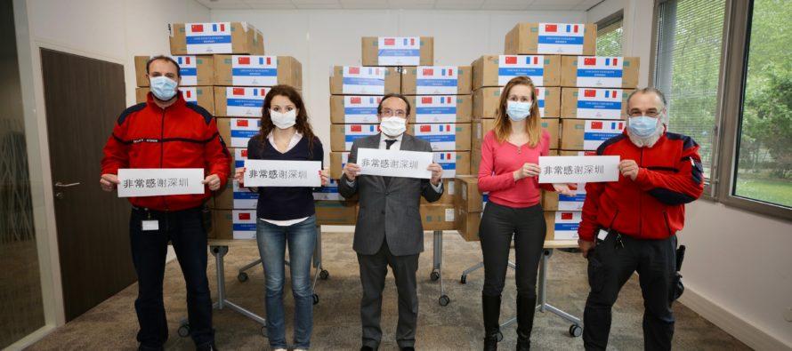 Coronavirus : une ville chinoise offre 50 000 masques aux soignants des Yvelines