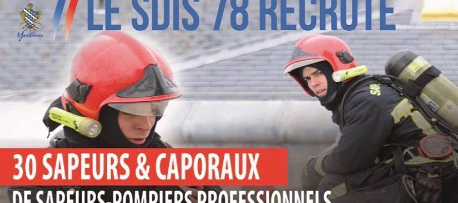 Sapeurs-Pompiers : le SDIS 78 recrute, postulez avant le 19 mai
