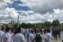 Manifestations des soignants : 400 personnes à l'hôpital de Mantes-la-Jolie