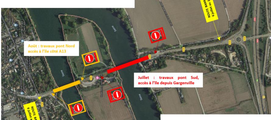 Gargenville : fermeture des ponts de Rangiport (RD 130) du 6 juillet au 28 août