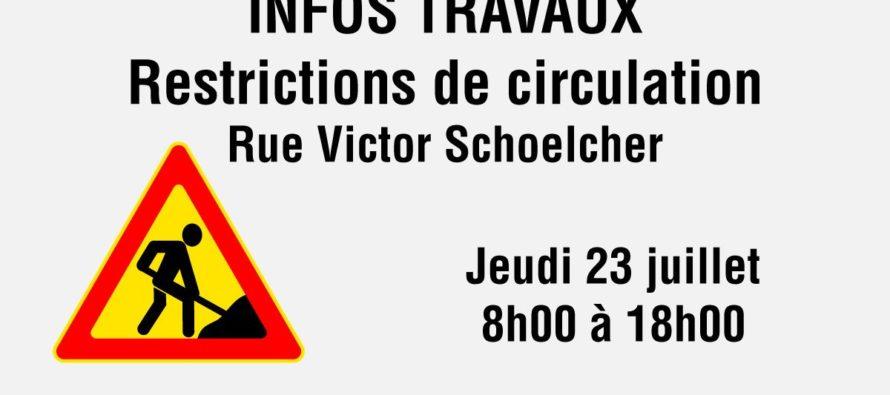 Travaux à Mantes-la-Ville : restrictions de circulation rue Victor Schoelcher le 23 juillet de 8 heures à 18 heures