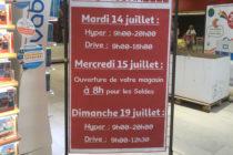 Auchan Mantes :le magasin ouvert mardi 14 et dimanche 19 juillet de 9 heures à 20 heures