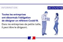Covid-19 : les entreprises sont dans l'obligation de désigner un référent