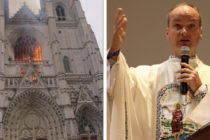 Cathédrale de Nantes incendiée : «c'est un drame» pour le curé de Mantes-la-Jolie