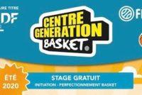 ASM Basket : participez au stage gratuit «centre génération basket» du 17 au 28 août
