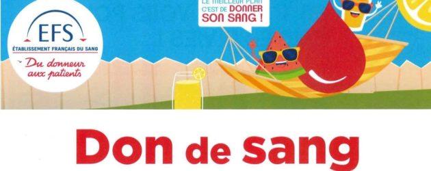 Mantes-la-Jolie  : opération don du sang le 14 août à l'Agora