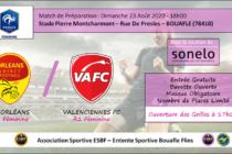 Foot Féminin – Amical : Orléans (D2) – Valenciennes (R1) à Bouafle le 23 août à 18 heures