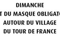 Rectificatif – Mantes-la-Jolie : le port du masque obligatoire autour du Village du tour de France dimanche 20 septembre