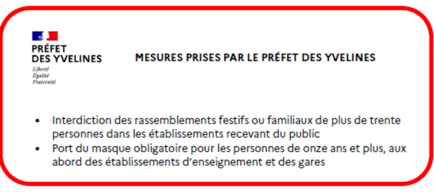 Covid-19 : les rassemblements festifs ou familiaux de plus de 30 personnes interdits dans les Yvelines