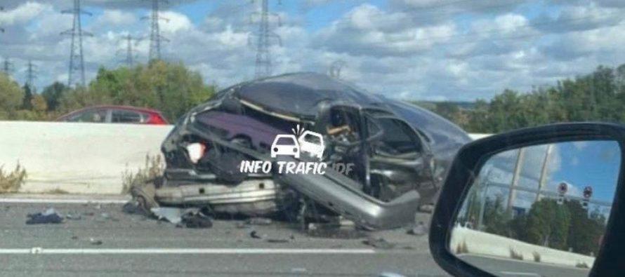 Accident sur l'A13 à Guerville : l'autoroute bouchée entre Mantes et Épône en direction de Paris
