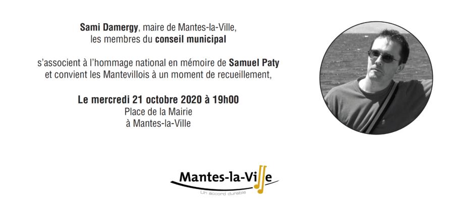 Hommage National à Samuel Paty : un rassemblement à Mantes-la-Ville mercredi à 19 heures place de la mairie
