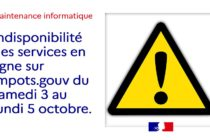 Impots.gouv : le site internet indisponible jusqu'au 5 octobre dans la journée