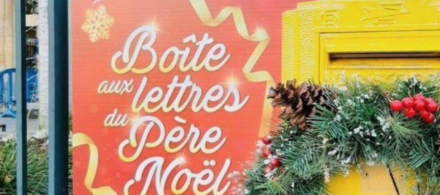 Mantes-la-Jolie : la boîte aux lettres du Père Noël installée devant l'hôtel de ville