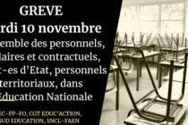 Covid-19 : appel à la grève dans les écoles, collèges et lycées le 10 novembre