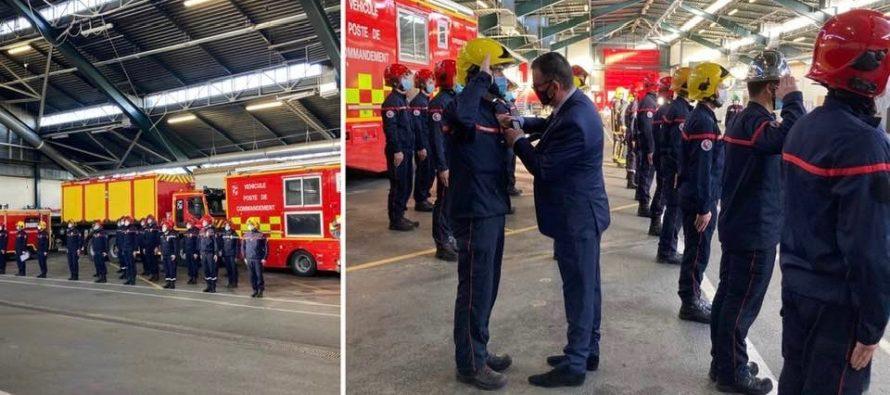 Magnanville : les sapeurs-pompiers ont célébré la Saint-Barbe