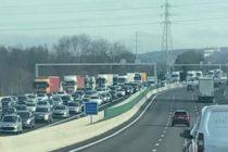 A13 : l'autoroute bouchée entre Épôneet Mantes après un accident à Guerville