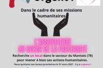 Solidarité : Au Coeur de la Fraternité recherche un local pour mener ses actions