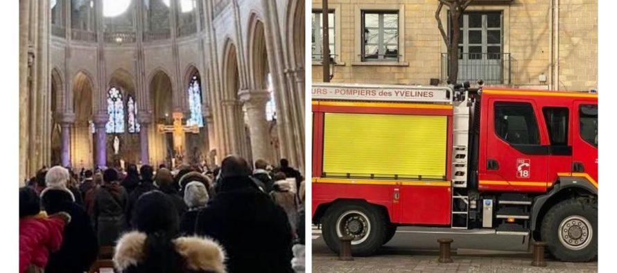 Collégiale de Mantes-la-Jolie : la chaudière dégage une fumée noire avant la messe