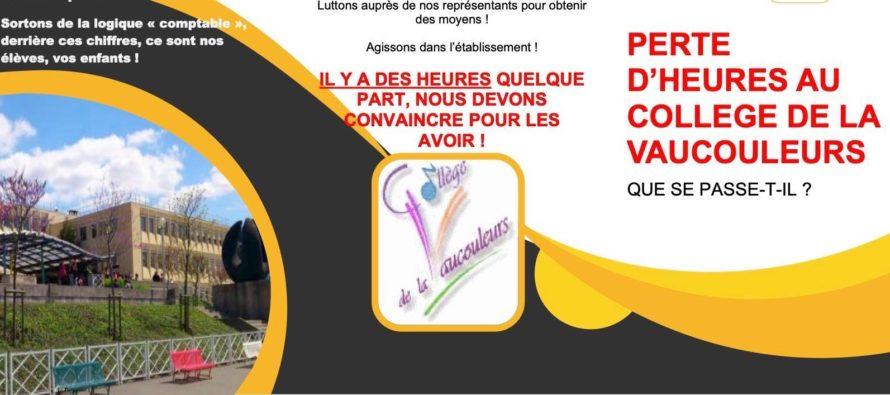 Mantes-la-Ville – Collège de la Vaucouleurs : une mobilisation ce mercredi pour les dotations horaires globales