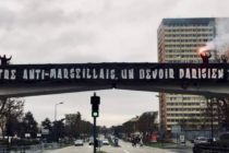 Mantes-la-Jolie : une banderole anti-OM avant le classico Marseille/PSG