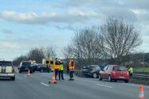 Mézières-sur-Seine : 2 blessés légers après l'accident sur l'A13 en direction de Paris