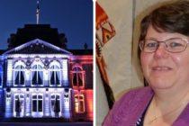 Hommage à Stéphanie M. : l'hôtel de la préfecture des Yvelines illuminé