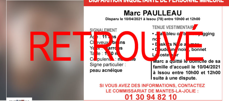 Issou : Marc Paulleau, 11 ans, retrouvé sain et sauf à Paris