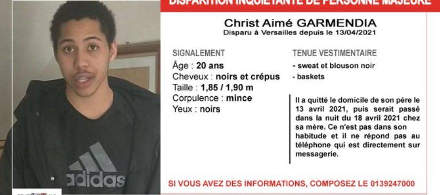 Yvelines :appel à témoins après la disparitionde Christ Aimé Garmendia