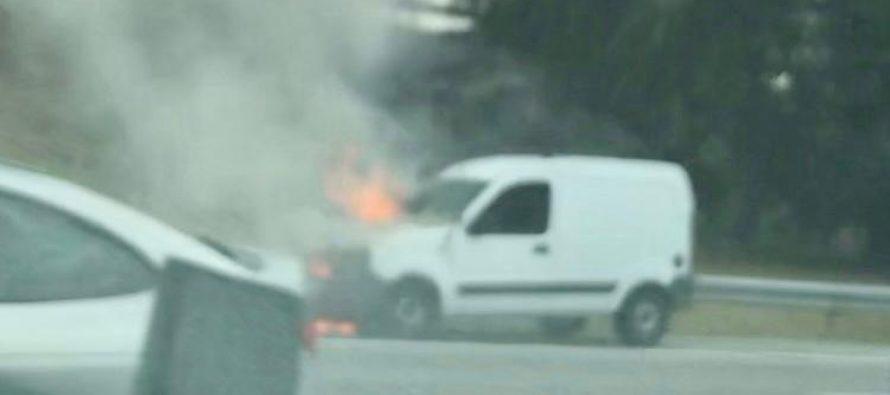 A13 Épône : la voiture en feu a provoqué d'importants bouchons