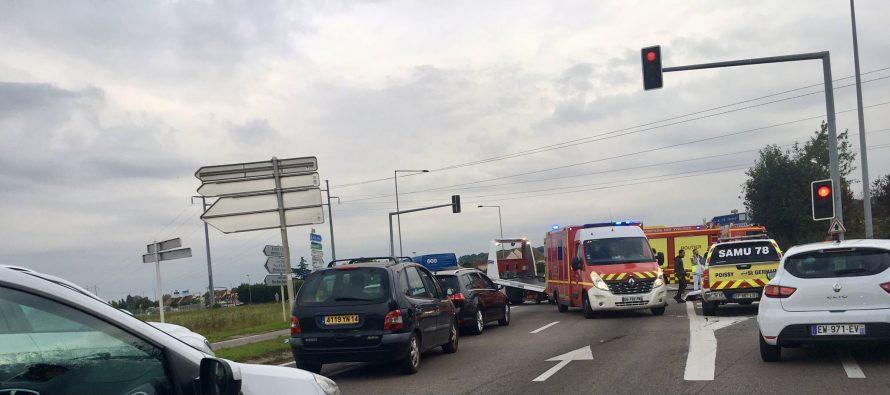 Accident à Buchelay : un motard grièvement blessé
