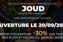 Nouveau – Joud : restaurant libanais à Mantes-la-Jolie, -30% sur les plats et mezzés jusqu'au 26 septembre