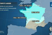 Yvelines – Tempête Aurore : des rafales de vent de 80 à 100 km/h la nuit prochaine